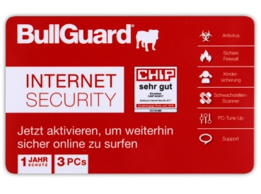 BullGuard Internet Security OEM 1 Jahr / 3 PC`s Multilingual CARD (Windows, Mac OS, Android)